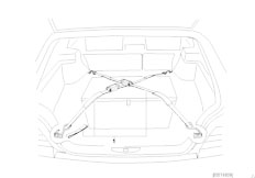 E38 740i M62 Sedan / Vehicle Trim/  Boot Lashing Strap