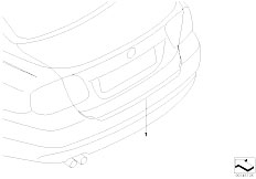 E65 730i M54 Sedan / Vehicle Trim Load Edge Protector