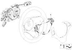 E87 116i N45 5 doors / Steering/  Retrofit Multi Functional Steering Wheel