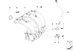 E46 316Ci N45 Coupe / Engine/  Intake Manifold System