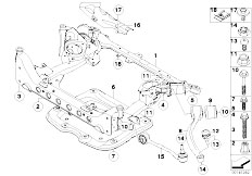 E92 325xi N52N Coupe / Front Axle Front Axle Support 4 Wheel