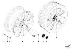 E92 323i N52N Coupe / Wheels Bmw Alloy Wheel M Spider Spoke 193
