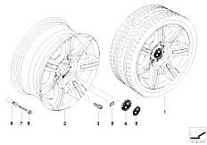 E92 323i N52N Coupe / Wheels Bmw Alloy Wheel M Double Spoke 194