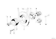E34 535i M30 Sedan / Engine Belt Drive Vibration Damper