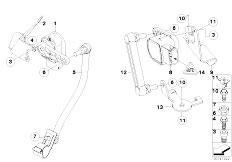 E92 325xi N52N Coupe / Front Axle Sensor Hdlght Vertical Aim Ctrl 4 Wheel