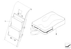 E92 335i N54 Coupe / Restraint System And Accessories Storage Compartment Module