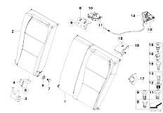 E46 M3 CSL S54 Coupe / Seats Through Loading Facility Single Parts