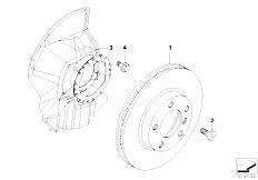 E46 316ti N42 Compact / Brakes/  Front Brake Brake Disc