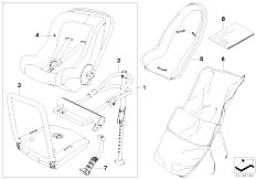 E63 645Ci N62 Coupe / Universal Accessories Bmw Baby Seat 0 Isofix