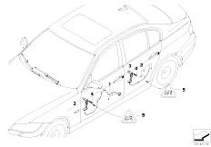 E90 316i N45N Sedan / Vehicle Electrical System/  Door Cable Harness