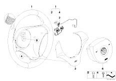 E87 116i N45 5 doors / Steering/  M Sports Steer Wheel Airbag Leather