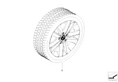 E87N 130i N52N 5 doors / Wheels V Spoke 141 Winter Wheel And Tyre