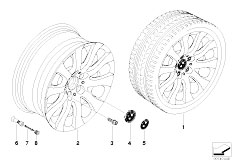 E92 323i N52N Coupe / Wheels Bmw Light Alloy Wheel Spider Spoke 159