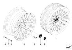 E92 323i N52N Coupe / Wheels Bmw Light Alloy Wheel Spider Spoke 160