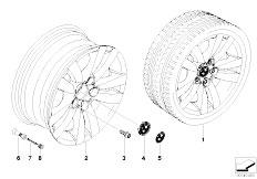 E92 323i N52N Coupe / Wheels Bmw Alloy Wheel Double Spoke 161