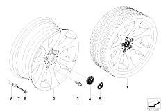 E92 323i N52N Coupe / Wheels Bmw La Wheel Ellipsoid Styling 162