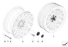E92 323i N52N Coupe / Wheels Bmw Light Alloy Wheel Radial Spoke 196