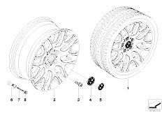 E92 323i N52N Coupe / Wheels Bmw Light Alloy Wheel Cross Spoke 197