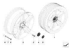 E92 323i N52N Coupe / Wheels Bmw Light Alloy Wheel Spider Spoke 199