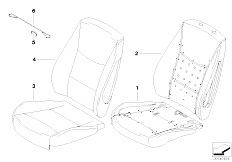 E91N 330i N53 Touring / Seats Basic Seat Upholstery Parts
