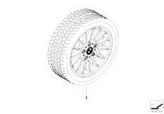 E91N 330i N53 Touring / Wheels Compl Wint Tyre Wheel Radial Styling 32