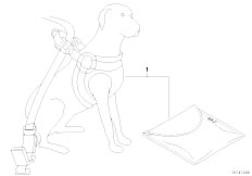 E30 318i M40 Cabrio / Universal Accessories Dog Safety Kit