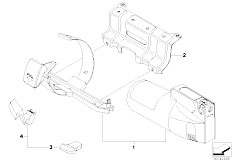 E91N 330i N53 Touring / Seats Fire Extinguisher