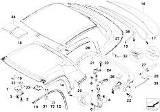 BMW Z3 Hardtop Torx Bolt Front Base 54218410540