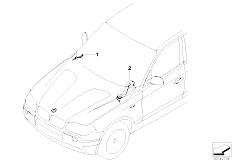 E83N X3 2.0d M47N2 SAV / Vehicle Electrical System/  Wiring Duct