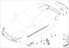 E46 M3 S54 Coupe / Vehicle Trim/  Retrofit Kit M Aerodyn Package