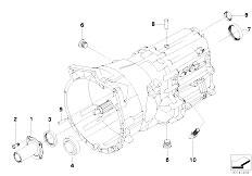 E63 645Ci N62 Coupe / Manual Transmission Gs6 53bz Dz Grbx Housing Mount Parts