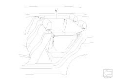 E46 M3 CSL S54 Coupe / Seats Universal Prodective Rear Cover