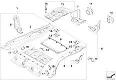E90N 320i N43 Sedan / Bodywork Mounting Parts For Trunk Floor Panel