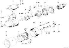 E38 L7 M73N Sedan / Engine Electrical System Starter Parts 2 2kw