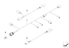 E46 325Ci M54 Cabrio / Vehicle Electrical System/  Various Additional Wiring Sets
