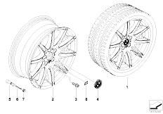 E92 323i N52N Coupe / Wheels Bmw Alloy Wheel M Double Spoke 225
