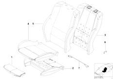 E83 X3 2.0d M47N2 SAV / Seats/  Sports Seat Upholstery Parts