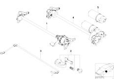 E83 X3 2.0d M47N2 SAV / Seats/  Seat Tilt Adjustment Individual Parts