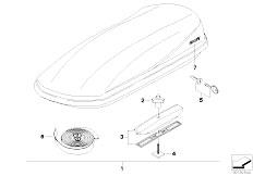 E46 330xd M57 Sedan / Universal Accessories Roof Box-2