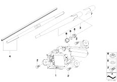 E83N X3 2.0d M47N2 SAV / Vehicle Electrical System/  Single Parts For Rear Window Wiper