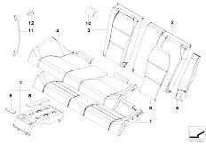 E46 M3 CSL S54 Coupe / Seats Through Loading Facility Seat Cover