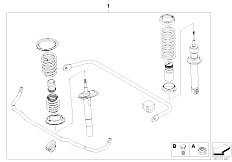 E60 520i M54 Sedan / Rear Axle Retrofit Kit M Sports Suspension