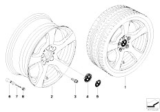 E92 323i N52N Coupe / Wheels Bmw Light Alloy Wheel Spider Spoke 157