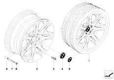 E92 323i N52N Coupe / Wheels Bmw La Wheel Star Spoke 185