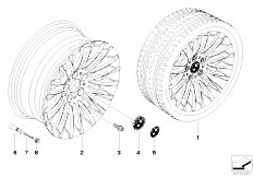 E92 323i N52N Coupe / Wheels Bmw Light Alloy Wheel Spider Spoke 187