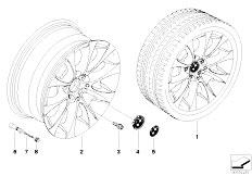 E92 323i N52N Coupe / Wheels Bmw Light Alloy Wheel V Spoke 188