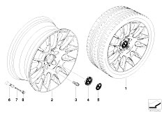 E92 323i N52N Coupe / Wheels Bmw Light Alloy Wheel Radial Spoke 216