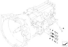 E90 320i N43 Sedan / Manual Transmission Gs6 17bg Gearshift Parts