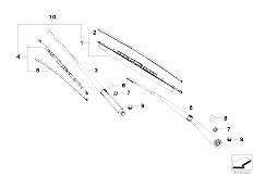 E83N X3 2.0d M47N2 SAV / Vehicle Electrical System/  Wiper Arm Wiper Blade