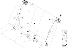 E92 335i N54 Coupe / Restraint System And Accessories Safety Belt Rear